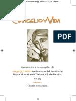 Evangelio y Vida / Mayo - Junio 2019