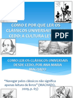 Seminário Ler Os Clássicos e Cultura Letrada