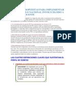Acciones Propuestas Para Implementar El Currículo Nacional Involucrando a La Plana Docente