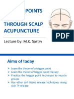 Trigger Points Release Through Scalp Acupuncture