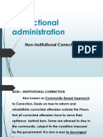 Non Institutional Correction Review