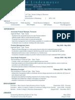 kellie lindenmoyer resume - april 2019