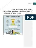 100% clean and renewable wind, water and solar energy in 139 countries