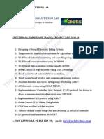 Electrical major proj 2010-11 List