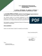 Designacion de Asesor Informe de Practicas - 2019 - Williams