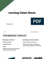 Technoprenuership 2 Teknologi Dalam Bisnis