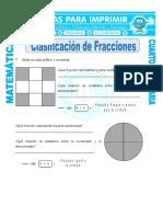 Clasificacion de Fracciones Para Cuarto de Primaria