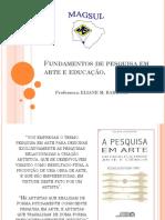 Fundamentos de Pesquisa Em Arte e Educação