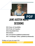 Jane Austen Movie Sessions Poster
