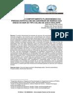 AVALIAÇÃO DO COMPORTAMENTO FLUIDODINÂMICO DA PRESSÃO ESTÁTICA EM UM CONVERSOR DE ENERGIA DAS ONDAS DO MAR DO TIPO COLUNA DE ÁGUA OSCILANTE