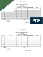 Applied Nutrition Program Form