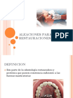 Aleaciones Para Restauraciones Dentales