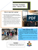 head start newsletter