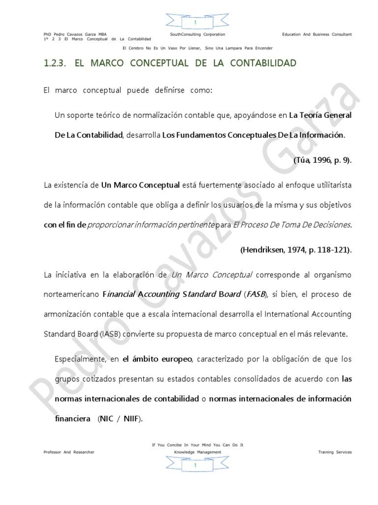 1º 2 3 El Marco Conceptual De La Contabilidad Normas