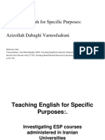 Topic 2 Teaching English for Specific Purposes