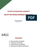 Utilización del gestor de base de datos MySQL I