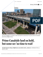 Prime Canalside Land on Hold, But Some See No Time to Wait