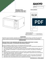 Sanyo manual microwave