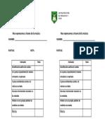 Evaluacion de Ciencias Unidad 1