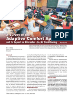 A Survey of the Adaptive Comfort Approach and Its Impact on Alternates - To - Air Conditioning Part 2