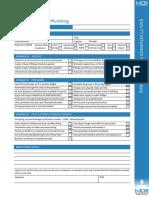 Checklist First Fix Plumbing