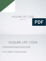 4.4 Acquire UPC Code