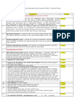 Access Control System Complyance Sheet