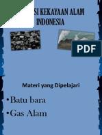 1. Potensi Kekayaan Alam Indonesia Batubara Gas Alam
