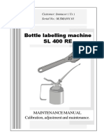Neri SL400 Labeler Maintenance Manual