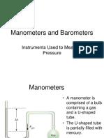 Manometers and Barometers
