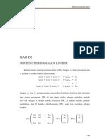 BAB 9 Sistem persamaan linier