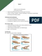 Zusammenfassung Examen Hygiene_Händedesinfektion