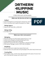 Northern Philippine Music || Overview