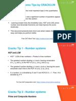 CAT Number System Formulas PDF