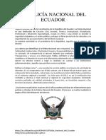 LA POLICÍA NACIONAL DEL ECUADOR