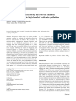 Attention-deficit hyperactivity disorder in children chronically exposed to high level of vehicular pollution