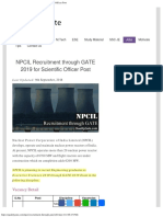 NPCIL Recruitment Through GATE 2019