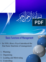 Basic Functions of Management