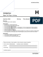 AQA Spanish Higher Writing Paper (2)