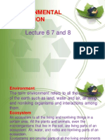 Lecture 6 7 8 (Environmental Pollution)