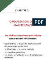 CHAPITRE 2 Organisations de La Maintenance