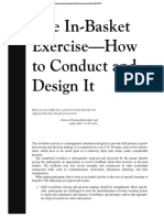 The in-Basket Exercise - How to Conductand Design It (1)