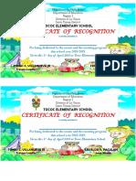 Boys Scout Certificate