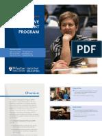 Wharton Executive Development Program