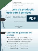 Conteúdo sobre qualidade em serviços