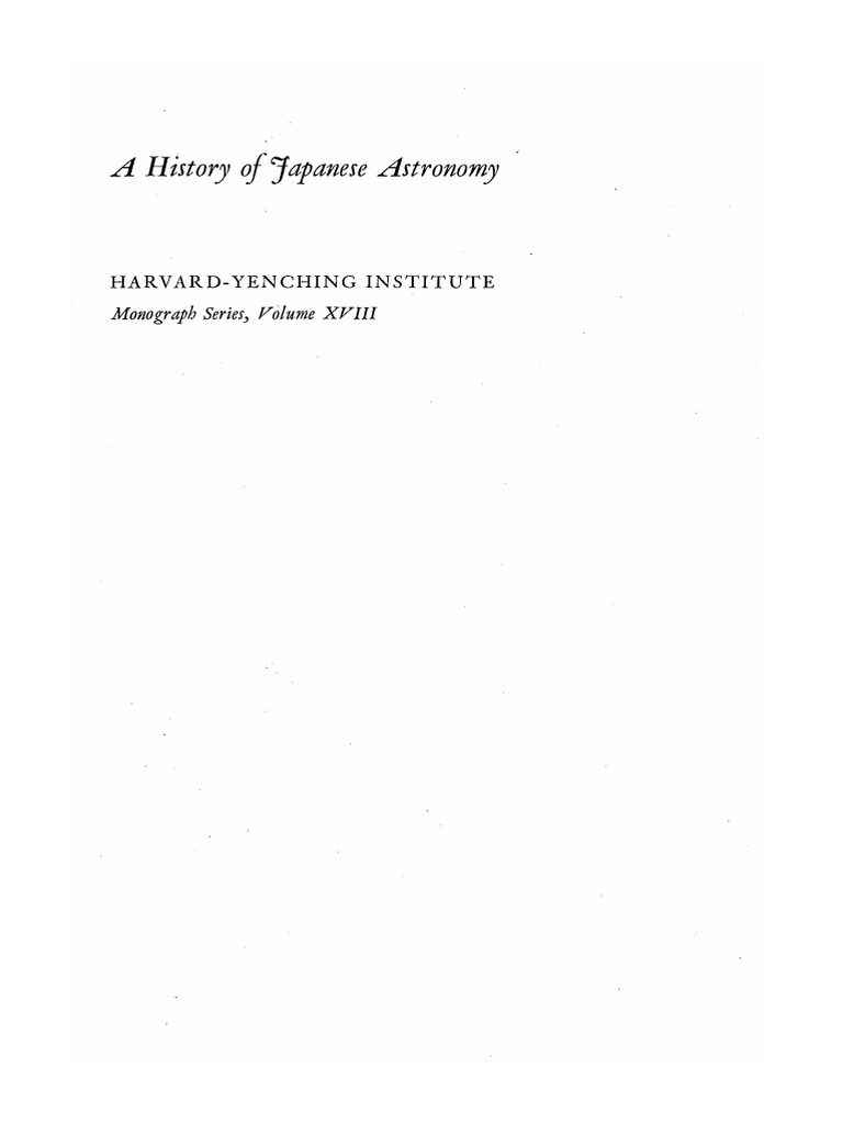 A History Of Japanese Astronomy Chinese Background And Western Impact Pdf Tang Dynasty Japan