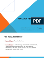 Lecture 1 - Research Report Writing