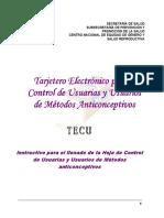 Instructivo de Llenado de La Hoja de Control Tecu 2011