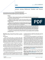 Violence Related Behaviours Among Adolescent Students and Factorsaffecting Thereto Psychiatry 1000239