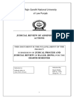 Judicial review of administrative actions